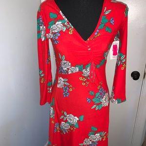Bobbie Brooks Midi Ruched Dress